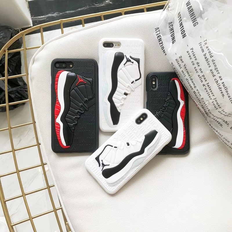 27c0535bf3 Fashion 3D NBA Air Dunk Jordan Sports Basketball Shoes Soft Phone Cases For iphone  6 6S 7 8 Plus ...