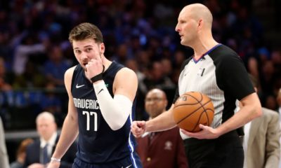 Doncic irate with refs after multiple blows to face