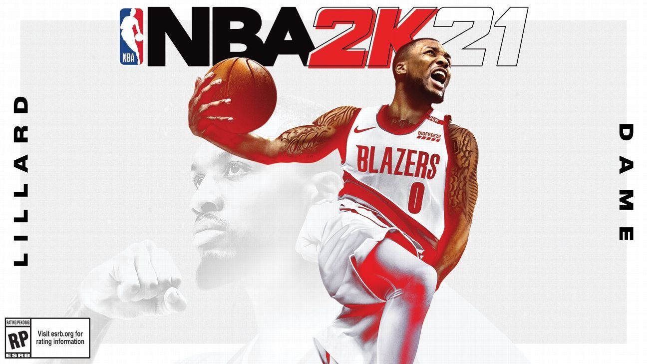 Blazers' Lillard gets first of 3 covers for NBA 2K21