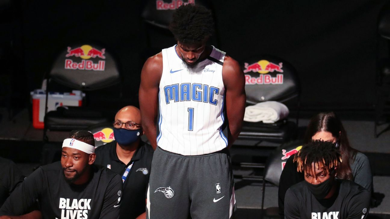 Isaac 1st in NBA bubble to stand during anthem