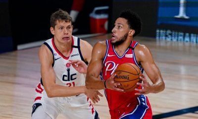 76ers' Simmons (knee) leaves game vs. Wizards