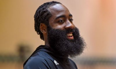 Harden back practicing, as he, Silas 'talk hoops'